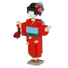 NBC-358 Award Winners - nanoblock® design competition - KIMONO GIRL 優秀賞得獎作品‧日本和服女子