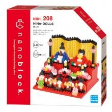 NBH-208 HINA-DOLLS Ver. 2.0  nanoblock 日本節慶·女兒節娃娃