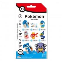 NBMC-16S nanoblock mininano Pokémon Type: Water 水系屬性(迷你版)  1包