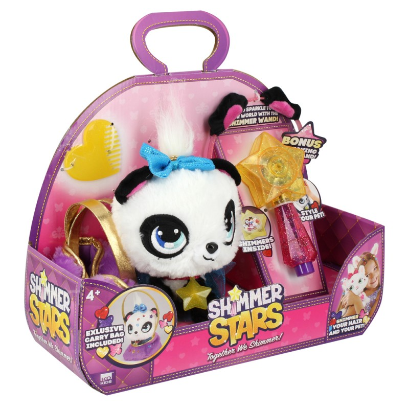 SHIMMER STARS  PIXIE THE PANDA AND BAG  星之寵物 - 熊貓阿P連小手袋