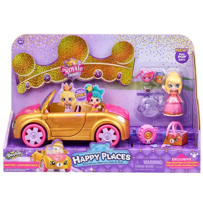 57577 SHOPKINS HAPPY PLACES皇室時尚遊樂開篷汽車  ROYAL CONVERTIBLE PLAYSET