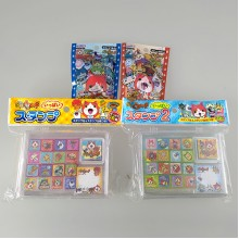 "PP038 (YW)	 YOKAI WATCH STAMP TOY COLLECTION SET (SET INCLUDED 2 PCS STAMP TOY SET AND 2 PCS STAMP TOY BLIND BAG)	""妖怪手錶印章套裝 (套裝連兩款印章套裝及兩包印章隨機包)"