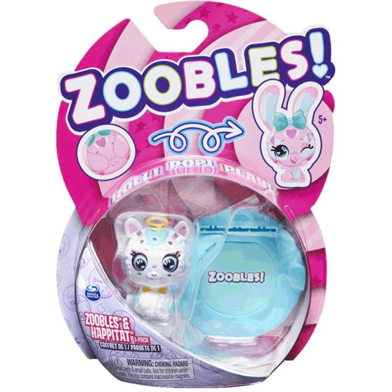 ZOOBLES 爆趣小彈丸 ANIMALS & HAPPITAT -1 PACK (Angel Llama LO-LA) 動物大變身場景系列 (1粒裝-天使草泥馬)