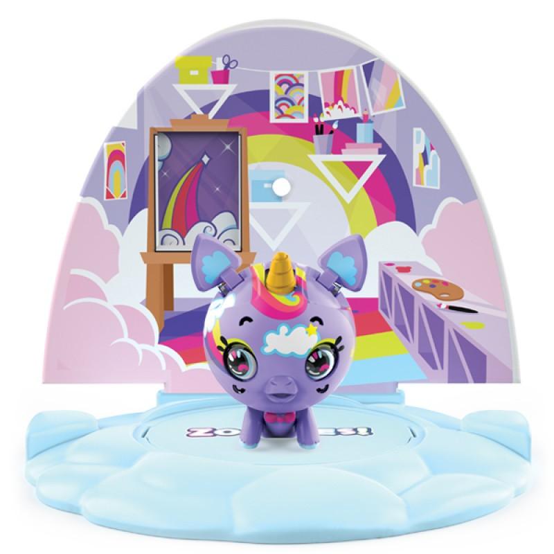 ZOOBLES 爆趣小彈丸 ANIMALS & HAPPITAT -1 PACK (Rainbow Unicorn Uni-BB) 動物大變身場景系列 (1粒裝-彩雲獨角獸)