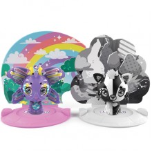 ZOOBLES 爆趣小彈丸 ANIMALS & HAPPITAT - 2 PACK (Rainbow PRISM PIPER &  Black & White FIONA FOXY) 動物大變身場景系列 (兩粒裝-彩虹蝴蝶與黑白狐狸)