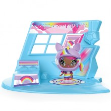ZOOBLES 爆趣小彈丸 GIRL & HAPPITAT -1 PACK (Rainbow Unicorn Uni-QT) 彈丸女大變身場景系列 (1粒裝-獨角獸彈丸女)